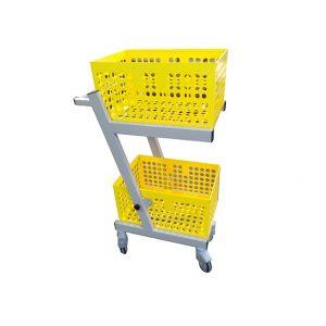 Chariot de transport de la gamme collias vu de profil de couleur jaune