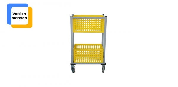 Chariot de transport zohra vu de face de couleur jaune