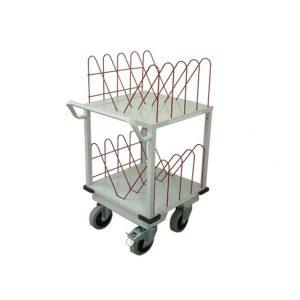 Chariot médical de la gamme monarque vu de profil de couleur blanche