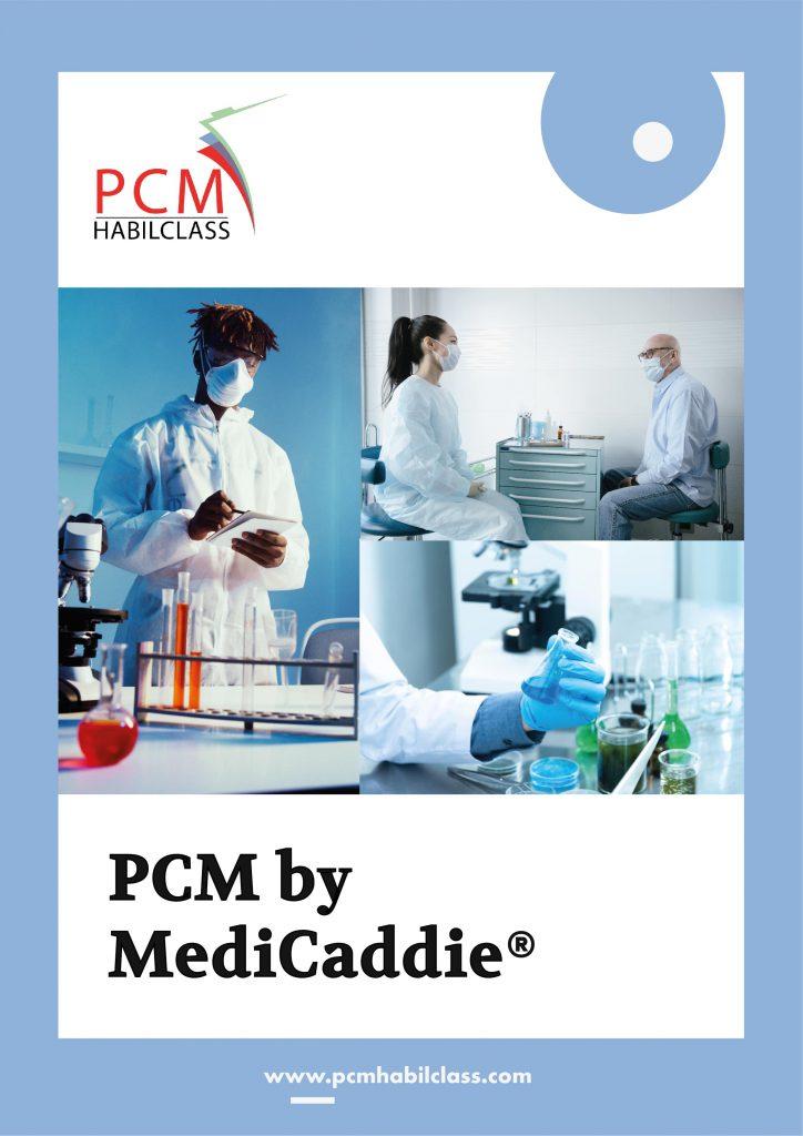 Couverture de notre nouveau catalogue PCM by MediCaddie